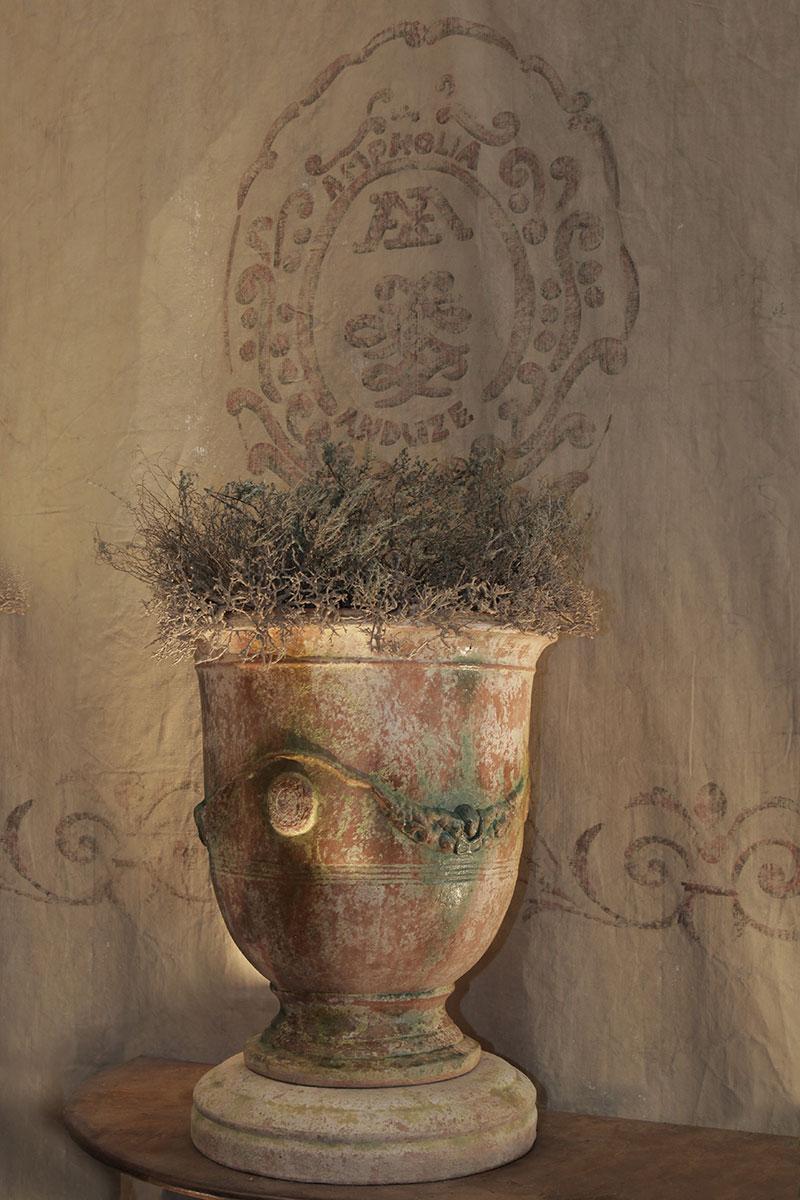 Vase d'Anduze patine ancienne